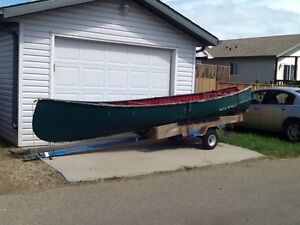 18' Freigter Canoe with trailer Strathcona County Edmonton Area image 1