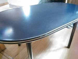 Large black retro table...selling for $30...must pick up and no