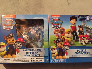 BRAND NEW Paw Patrol Game and Puzzle