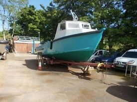 hull and deck assembly - steel work boat