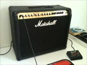 Marshall Valvestate VS100 à LAMPE + Pédale Marshall