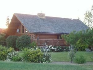 Beautiful Log Cabin at Sask. Landing Provincial Park