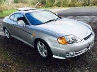 Hyundai coupe v6 2.7 automatic silver low miles mot £1475