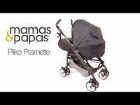Mamas and Papas Pliko Pramette and Viaggio Car Seat/ Base