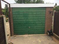 Concrete & sliding door garage/shed/workshop/mancave free to collector