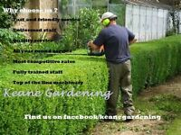 Keane Gardening. Professional gardening and landscaping services.