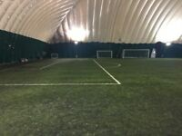 Friendly weekend football in Crystal Palace dome. Casual 9-a-side game looking for more players!