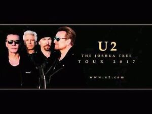 U2:The Joshua Tree Tour - 4 VIP PARTY PACKAGE Tickets - 2ND ROW!