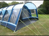 Kampa Studland 8 Tent For Sale, includes footprint, carpets & vestibule.