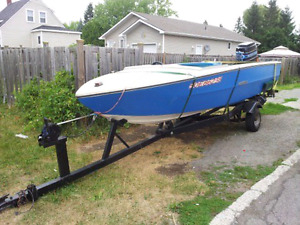 Boat with trailer and 85hp motor
