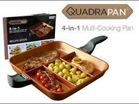 QUADRA PAN 4 in 1 multi cooking pan