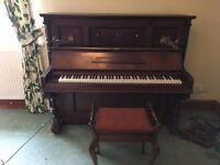 1800's Fred. Manthley piano and stool