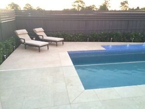 Ivory white travertine tumbled pavers and tiles Seven Hills Blacktown Area Preview
