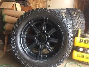 """22""""Rims with Mud Tires"""