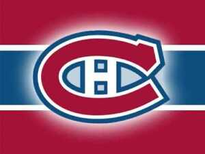 *** 4 TOGETHER CENTER ICE 319 - HABS Montreal Canadiens Tickets!