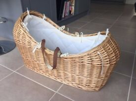Mothercare 'Snug' moses basket. Perfect condition. (No stand)