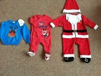 Christmas outfits and jumper (jumper is new with tags ) 3-6 months
