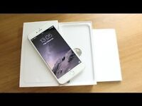 APPLE IPHONE 6 PLUS 64GB, SILVER/WHITE, UNLOCKED TO O2/TESCO/GIFF GAFF, BOXED, IN MINT CONDITION