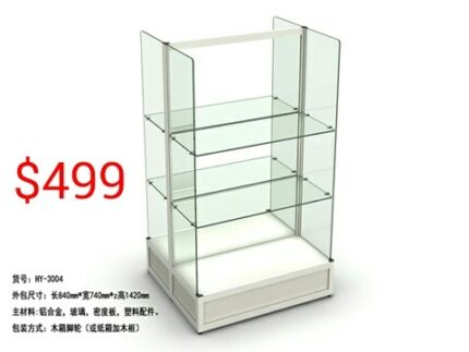 Glass counter Glass cabinet Glass display shelving