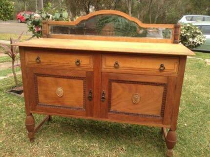 Stunning Antique timber  sideboard