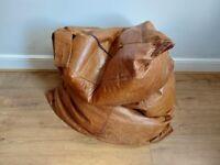 Large Leather Beanbag