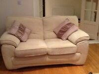 2 seater and 3 seater settle with foot stool