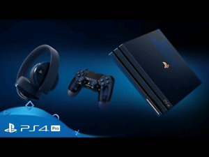 Ps4 pro 2TB 500 million limited edition 2 controllers + headset