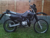 STOLEN Yamaha Dtr 125 all black with welsh dragons