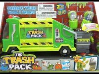 Trash Rubbish Truck toy with bins for boy girl child game