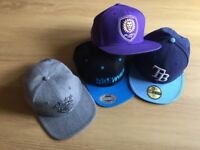 Collection of Snapbacks (for sale singularly or as a collection)