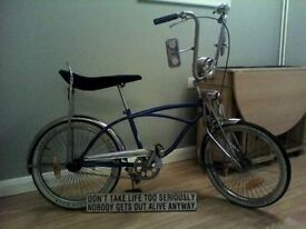 lowrider bike forsale and bikerton . collectonburnham on sea somerset . may deliver locally 4 fuel