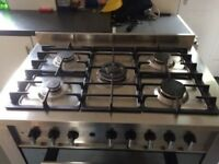 Duel fuel Cooker for sale 5 hobs double oven