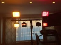 disco/band lights with heavy duty stand lighting controller very good working order
