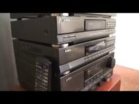Aiwa Stereo Synthesized Tuner, Graphic Equalizer, and Stereo Integrated Amplifier for Sale