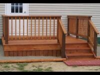 DECKS AND FENCES.