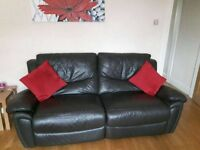 Faux Leather Reclining Sofa and Armchair Suite