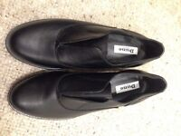 Dune black leather laceless brogue size 5 - Brand New