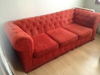 2 X 3 seater Chester field sofa,s