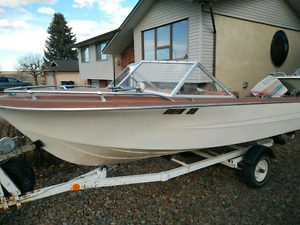 16 ft Boat 70HP motor and trailer