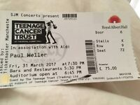 Paul Weller Concert Tickets (x2) - 31st March 2017