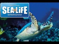 X2 Tickets to sea life centre Birmingham