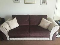3& 2 seater chenille and corded sofas excellent condition