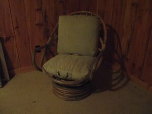 SOLID CANE FRAME CHAIR.