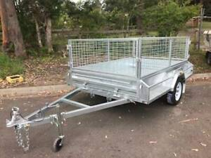 7 x 4 HEAVY DUTY HOT DIPPED GAL SINGLE AXLE BOX TRAILER WITH CAGE Erina Gosford Area Preview