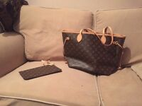 Mint condition Louis Vuitton handbag & Card purse with original box