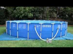 Just in time for the heat wave...Intex easy set up pool