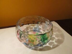 Colorful glass bowl.