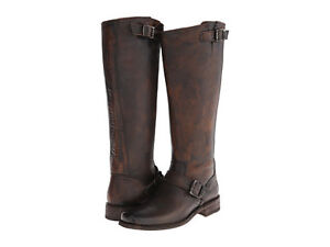 Frye - Smith Engineer Tall (Charcoal Pebbled ) Women's