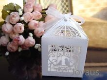White Birdcage Bomboniere Favour Boxes for Wedding Party Guest Gift Midland Swan Area Preview