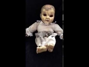 Creepy Talking Doll.  Button or Sound activated